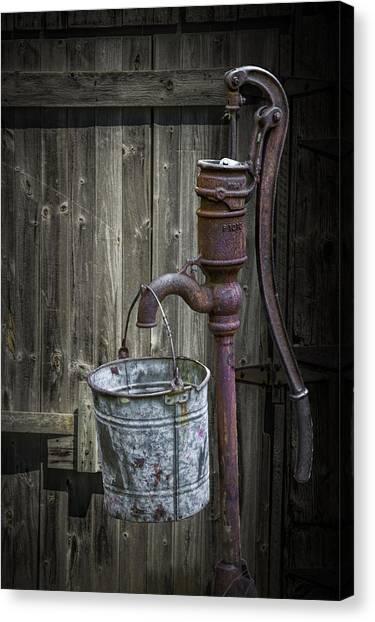 Rusty Hand Water Pump Canvas Print