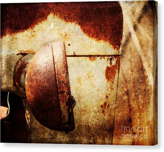 Rusty Headlamp Canvas Print