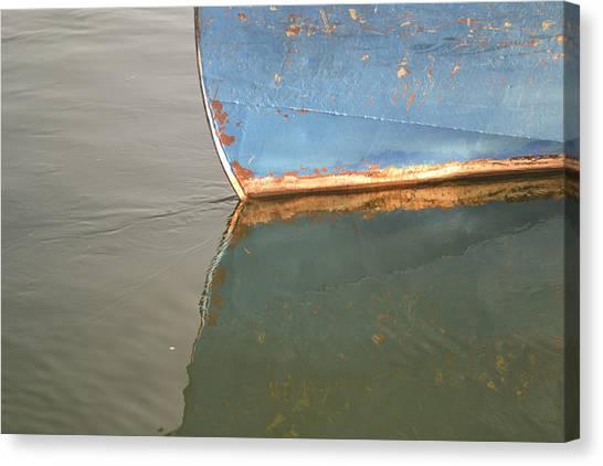 Rusty Hull Reflection Canvas Print
