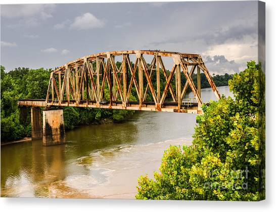 Rusty Old Railroad Bridge Canvas Print