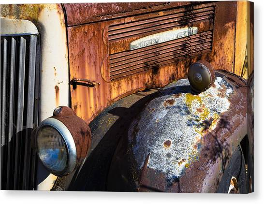Rusty Truck Canvas Print - Rusty Truck Detail by Garry Gay