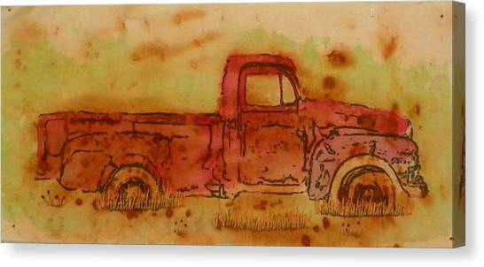 Rusty Truck Canvas Print