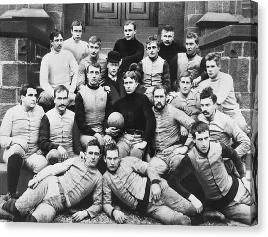 New Brunswick Canvas Print - Rutger's 1891 Football Team by F.J. Higgins