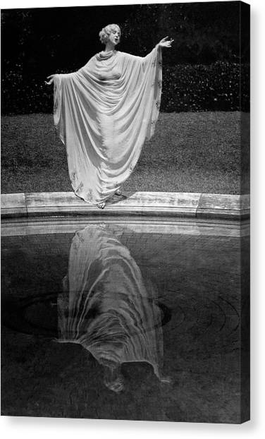 Arms Outstretched Canvas Print - Ruth St. Denis Wearing A Toga by Arnold Genthe