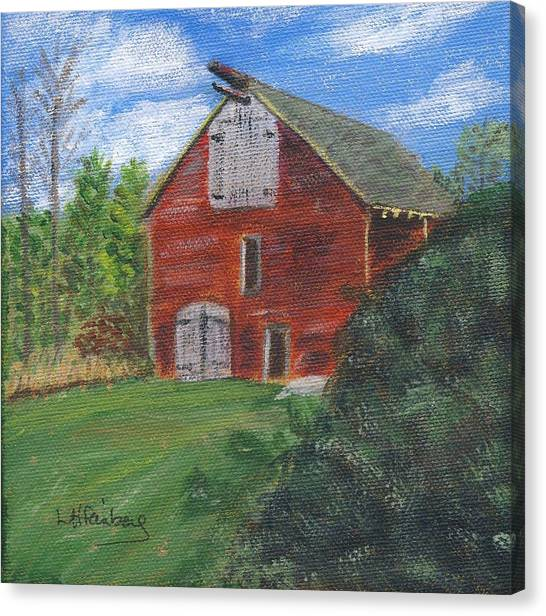 Canvas Print featuring the painting Ruth's Barn by Linda Feinberg