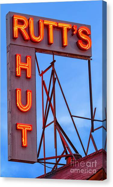 Hot Dogs Canvas Print - Rutt's Hut by Jerry Fornarotto