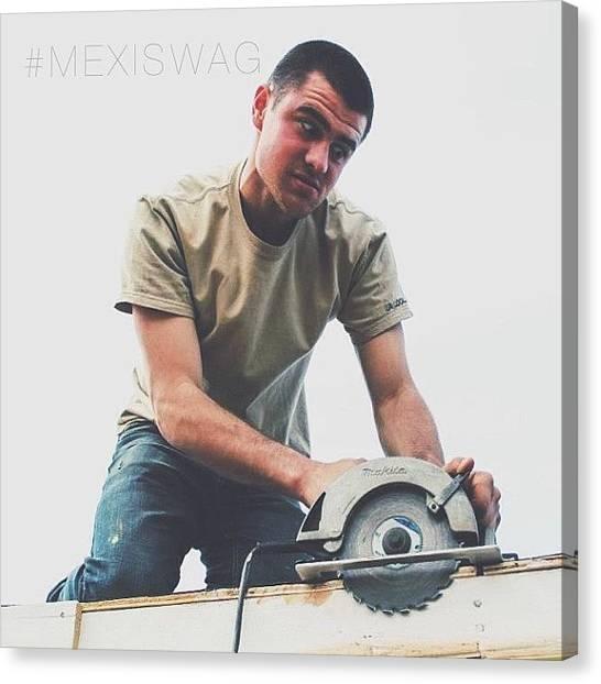 Saws Canvas Print - Ryan Medd!!! A Real Intense Shot I by Brad Sinclair