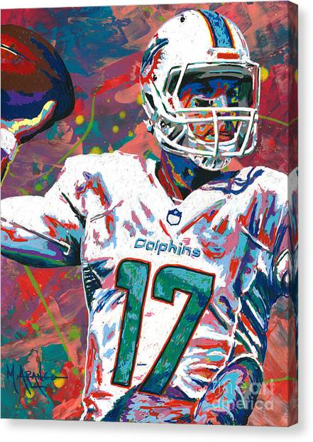 Quarterbacks Canvas Print - Ryan Tannehill by Maria Arango