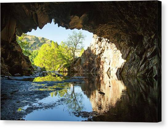 Mountain Caves Canvas Print - Rydal Cave Slate Mine Near Ambleside by Ashley Cooper