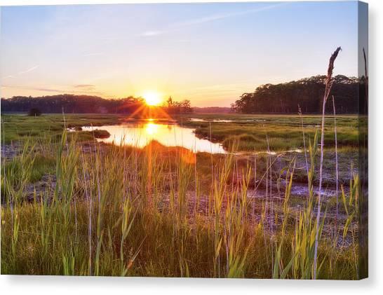 Rye Marsh Sunset Canvas Print