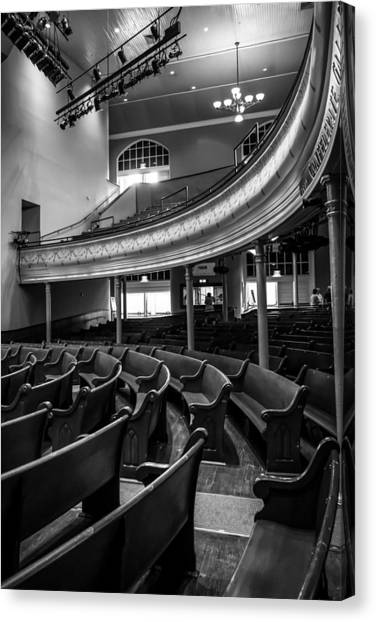 Ryman Auditorium Pews Canvas Print