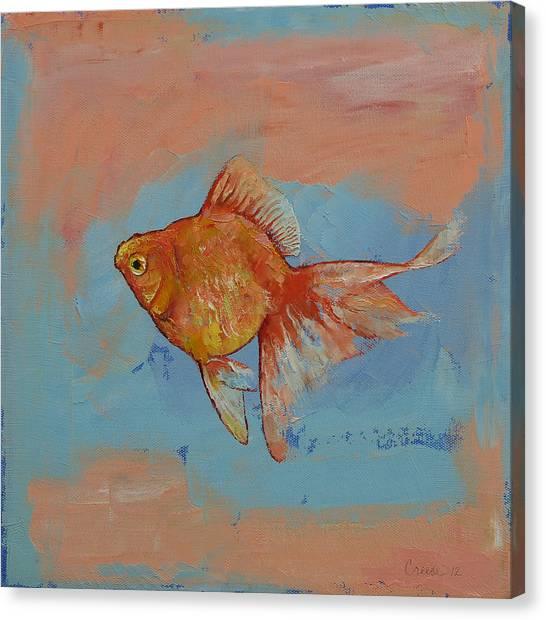 Goldfish Canvas Print - Ryukin Goldfish by Michael Creese