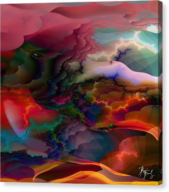 Canvas Print featuring the digital art S-102 by Dennis Brady
