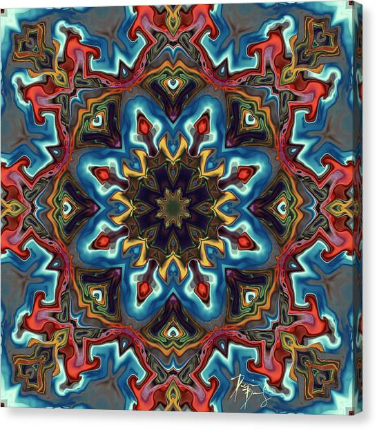 Canvas Print featuring the digital art S-128 by Dennis Brady