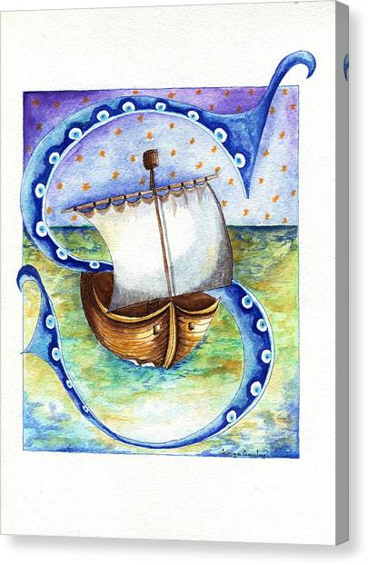 S Is For Sailing Canvas Print