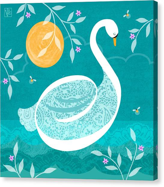 S Is For Swan Canvas Print