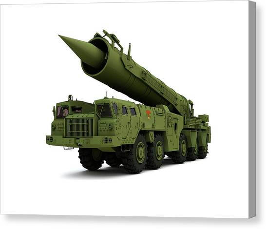 Warheads Canvas Print - Saber Nuclear Missile by Mikkel Juul Jensen