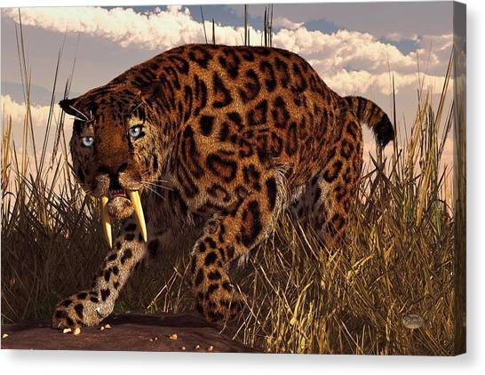 Saber Tooth Tiger Canvas Print
