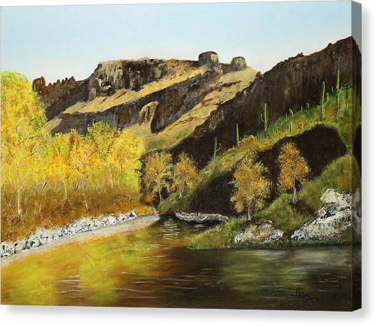 Sabino Autumn Canvas Print by Rich Civiok