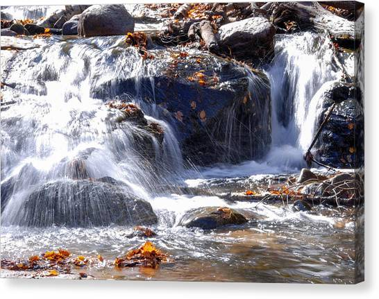 Alger Waterfalls Canvas Print - Sable Falls IIi by Optical Playground By MP Ray