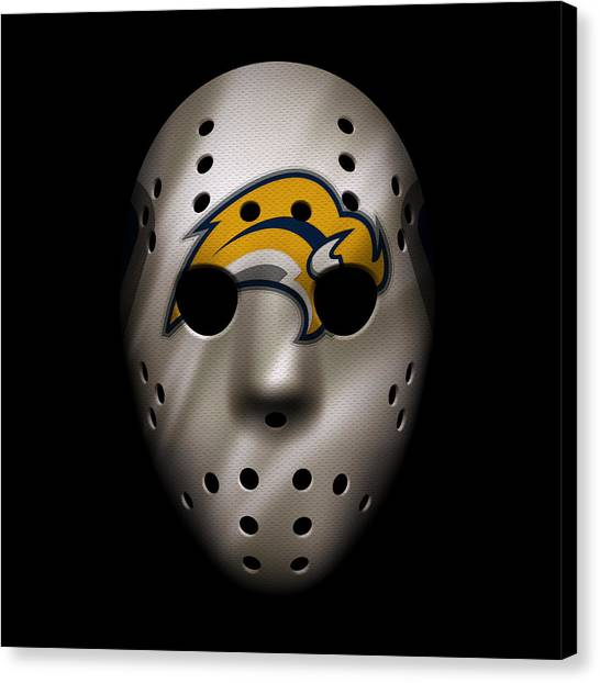 Buffalo Sabres Canvas Print - Sabres Jersey Mask by Joe Hamilton