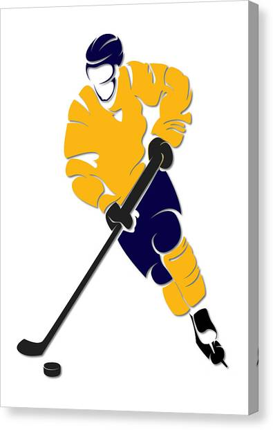 Buffalo Sabres Canvas Print - Sabres Shadow Player by Joe Hamilton