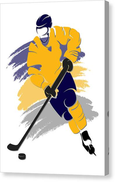 Buffalo Sabres Canvas Print - Sabres Shadow Player2 by Joe Hamilton