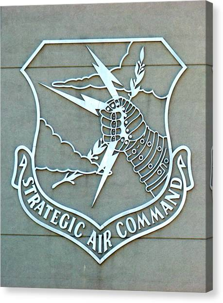 Canvas Print featuring the photograph Sac Strategic Air Command by Jeff Lowe