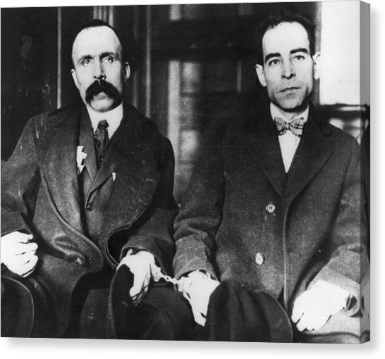 Carousel Collection Canvas Print - Sacco And Vanzetti, 1923 by Granger