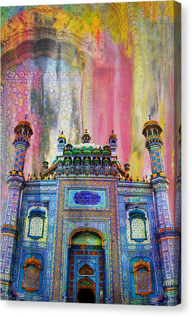Pakistan Canvas Print - Sachal Sarmast Tomb by Catf