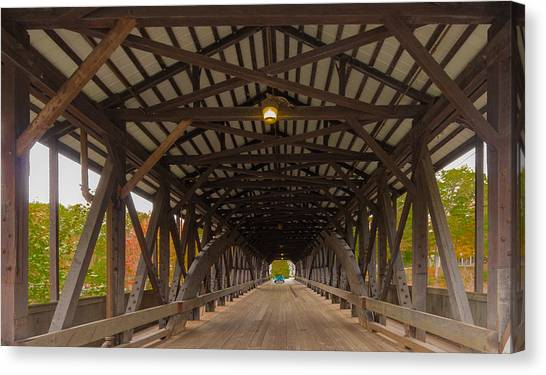 Saco River Bridge Canvas Print
