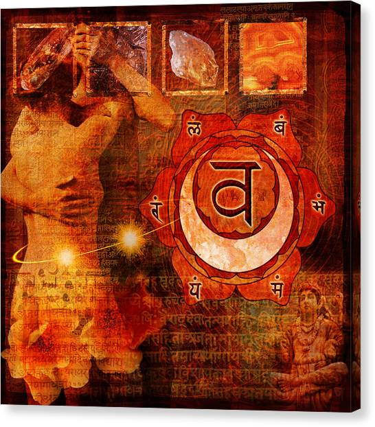 Canvas Print - Sacral Chakra by Mark Preston