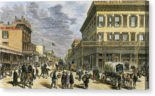 Big West Canvas Print - Sacramento In 1878 by Prisma Archivo