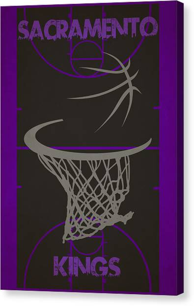 Sacramento Kings Canvas Print - Sacramento Kings Court by Joe Hamilton