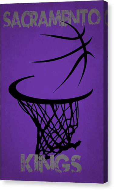 Sacramento Kings Canvas Print - Sacramento Kings Hoop by Joe Hamilton
