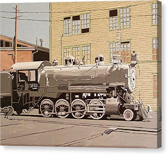 Sacramento Locomotive Works Canvas Print by Paul Guyer