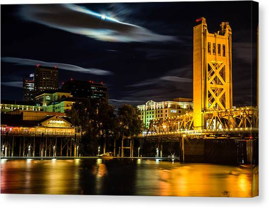 Sacramento Night Canvas Print