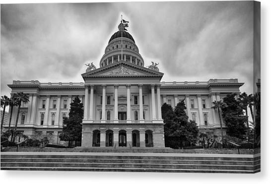 Sacramento State Canvas Print - Sacramento State Capitol by Amit Shinde