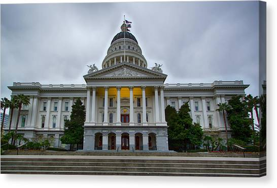 Sacramento State Canvas Print - Sacramento State Capitol - Hdr by Amit Shinde