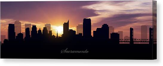 Sacramento State Canvas Print - Sacramento Sunset by Aged Pixel