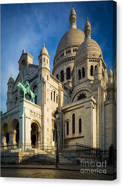 Europa Canvas Print - Sacre Coeur At Dawn by Inge Johnsson