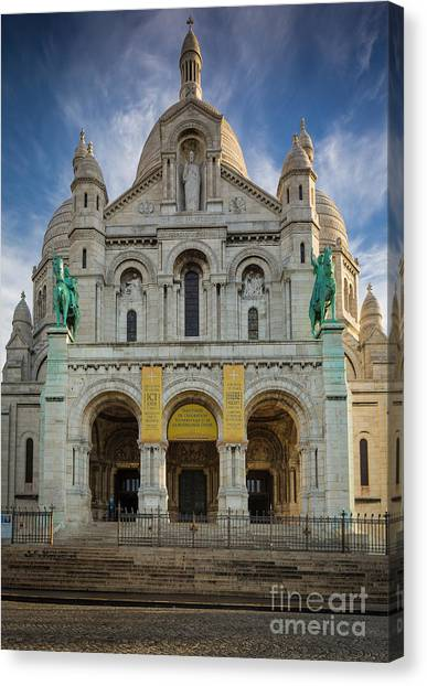 Europa Canvas Print - Sacre Coeur Entrance by Inge Johnsson