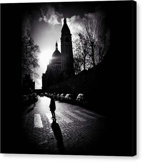 Paris Canvas Print - #sacrecoeur #paris #montmarte by Ozan Goren