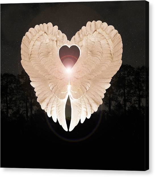 Canvas Print featuring the digital art Sacred Angel by Eric Kempson