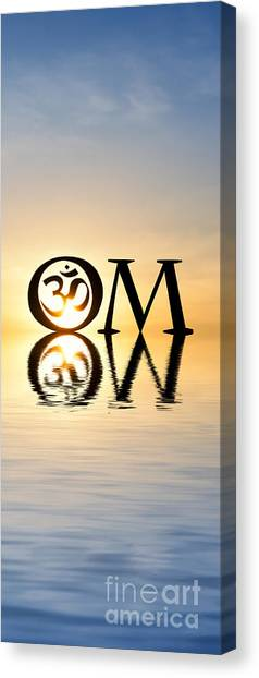 Om Canvas Print - Sacred Aum by Tim Gainey