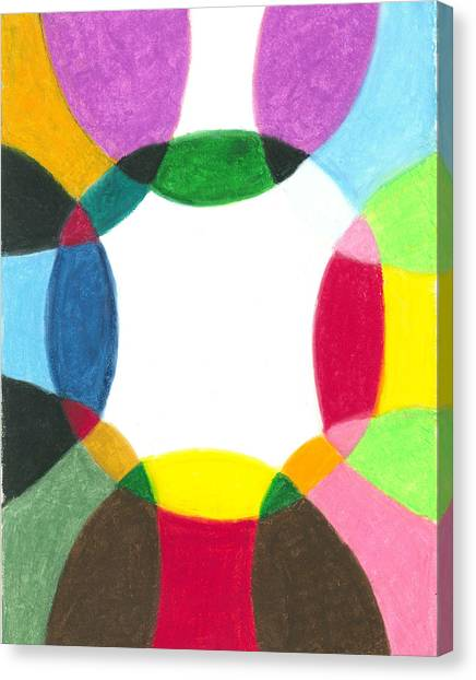 Sacred Circle Of Light Canvas Print