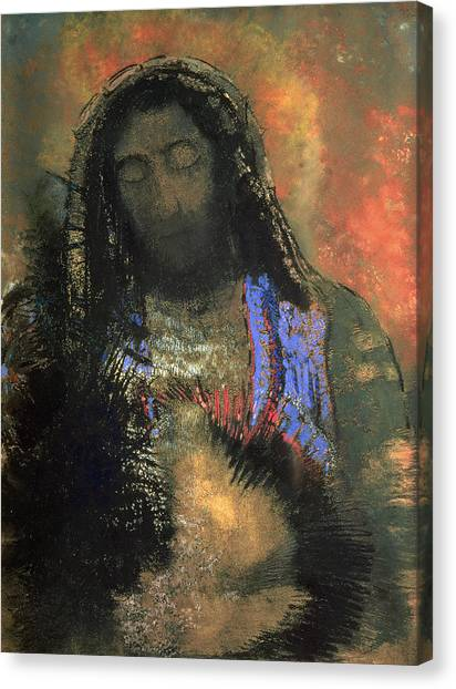 Christian Sacred Canvas Print - Sacred Heart by Odilon Redon