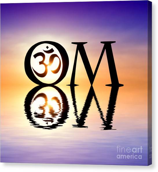 Om Canvas Print - Sacred Om by Tim Gainey