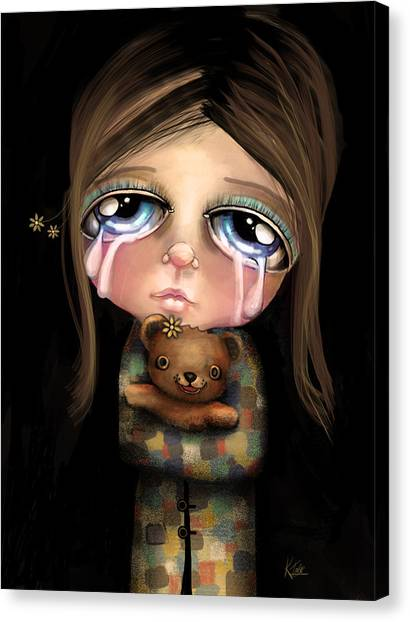 Care Bears Canvas Print - Sad Eyes by Karin Taylor