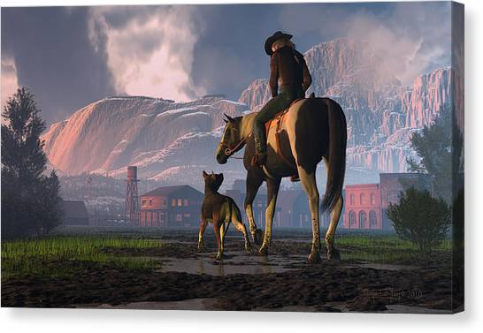 Saddle Tale Canvas Print